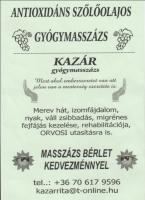 Kazár Rita masszázsa - XIII. kerület